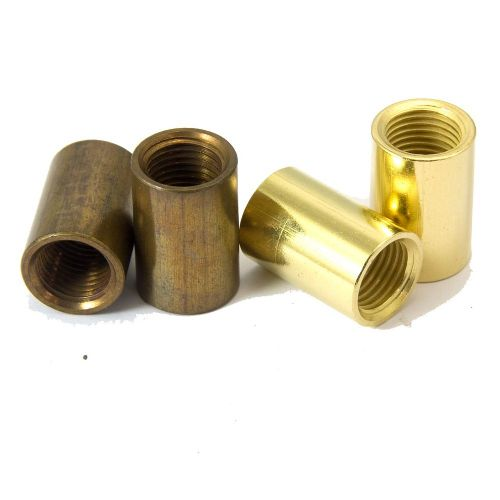 Solid Brass Coupler M10 x 1mm Pitch Polished or Antique Finish Pack of 2
